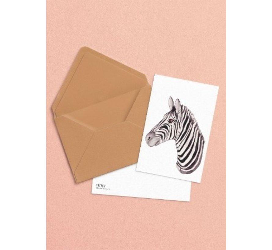 Postkaart Zebra