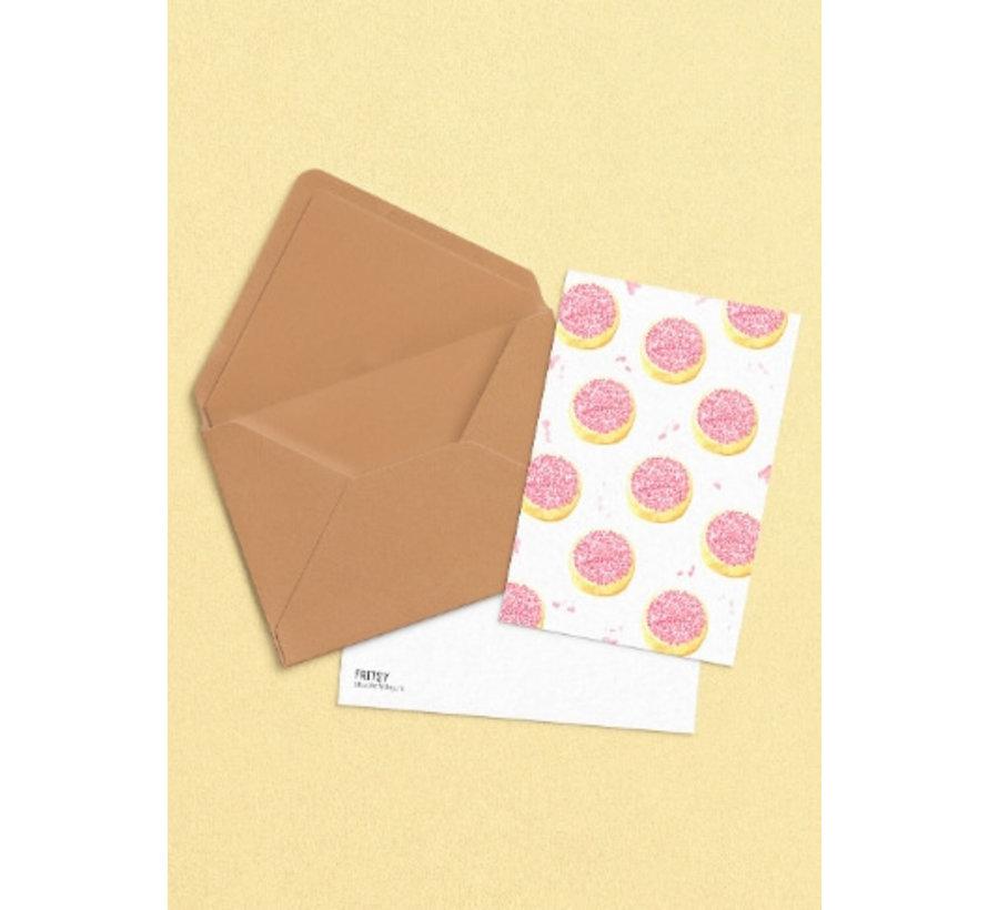 Postkaart Beschuit met Muisjes Roze