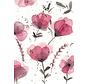Postkaart Paarse Bloemen