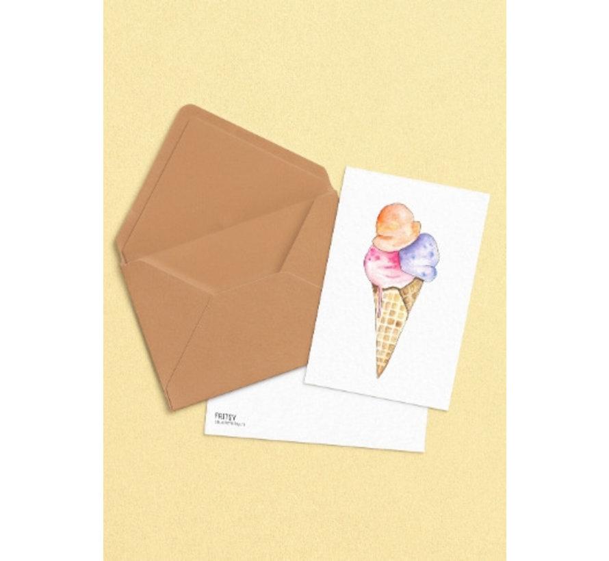 Postkaart Italiaans IJs