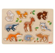 GOKI Lift Out Puzzle Forest Animals 9 pcs