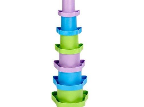Green Toys Stapelspel Stapelbekers Set 6-delig