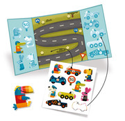 Djeco Thick and removable Stickers Cars