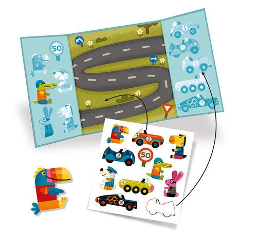 Djeco Stickerset Herbruikbaar Auto's