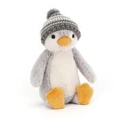 Jellycat Knuffel Pinguin Bashful Bobble Hat Grey