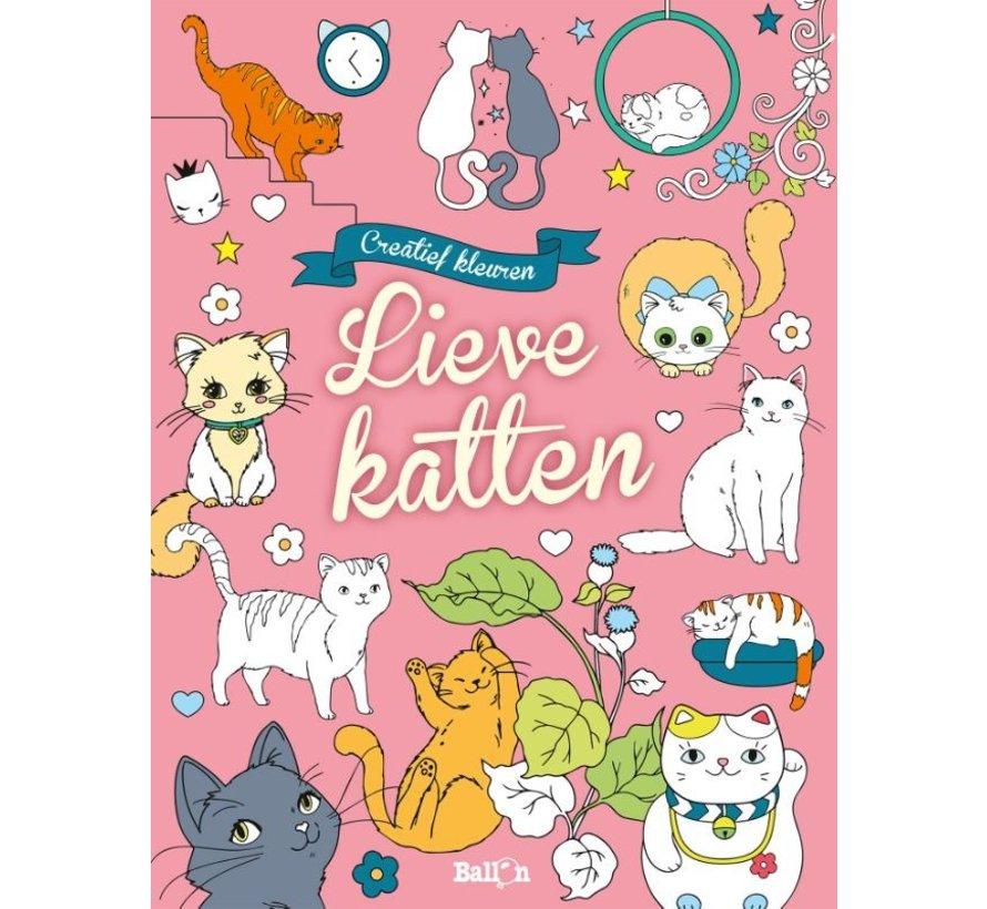 Creatief Kleuren Lieve Katten