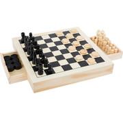 Small Foot Chess, Draughts & Nine Men's Morris Game Set