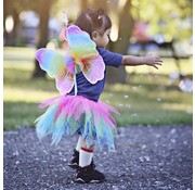 Great Pretenders Neon Rainbow Skirt Wings and Wand Set