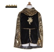 Great Pretenders Knight set Gold with Tunic, Cape and Crown Size 5-6