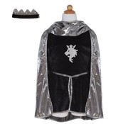 Great Pretenders Knight set Silver with Tunic, Cape and Crown Size 5-6