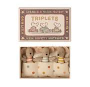 Maileg Triplets Baby Mice in Matchbox 8 cm