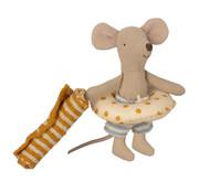 Maileg Beach Mice Little Brother in Cabin de Plage 11 cm