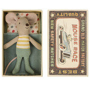 Maileg Little Brother Mouse Mint  in Matchbox 10 cm