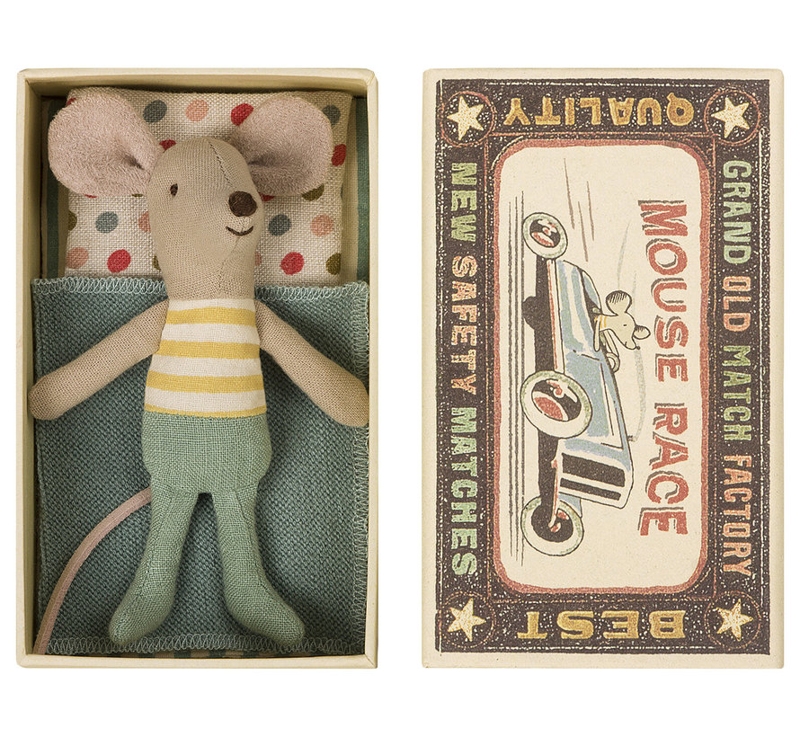 Little Brother Mouse Mint  in Matchbox 10 cm