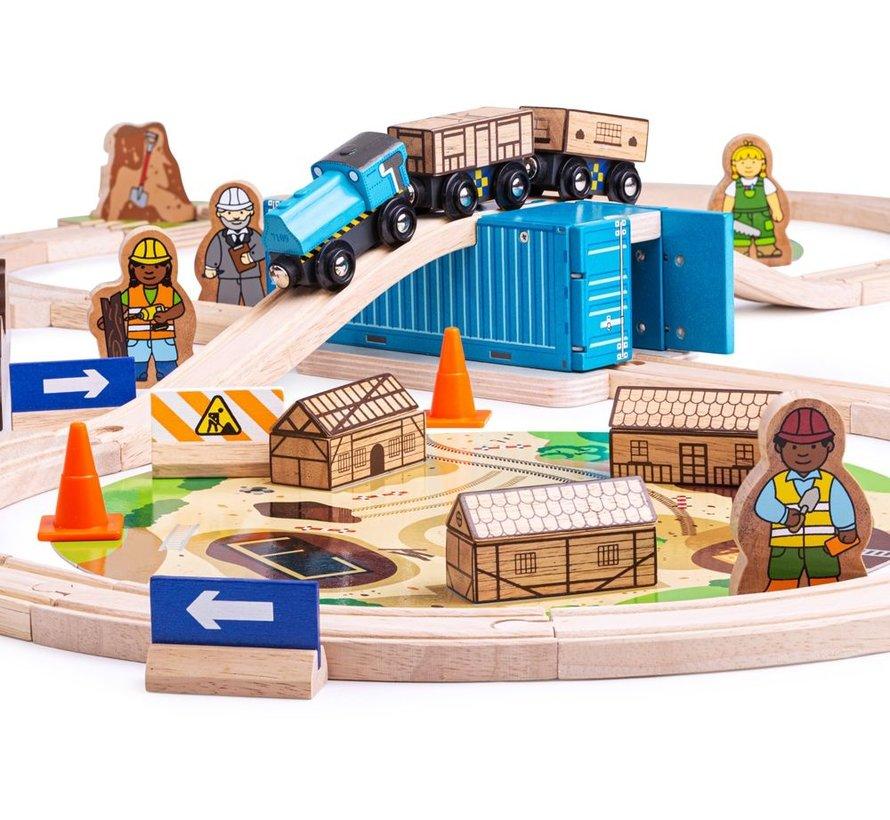 Houten Trein Construction Set 50-delig