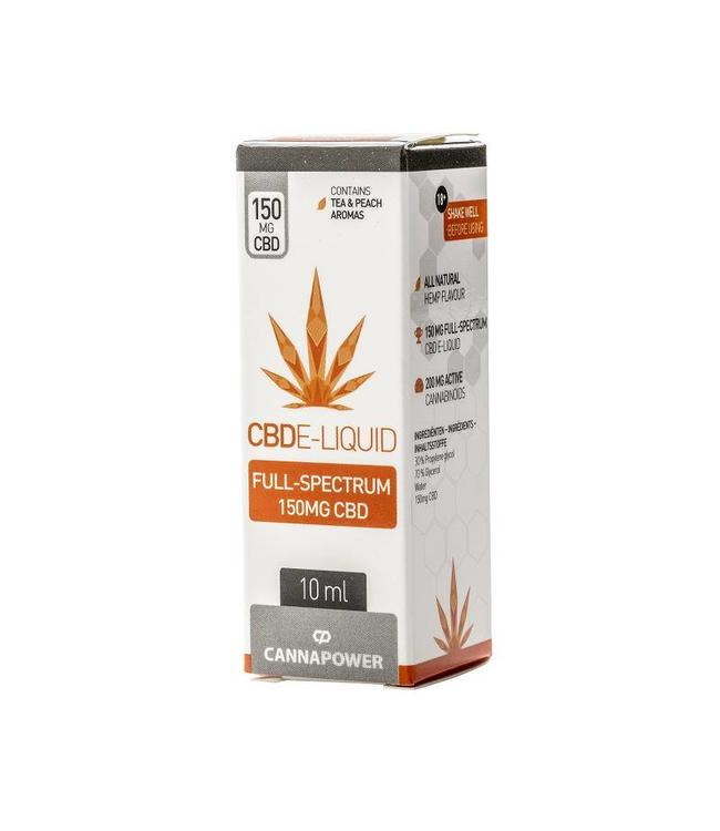 Cannapower Cannapower CBD E-Liquid 150mg Ice Tea Peach