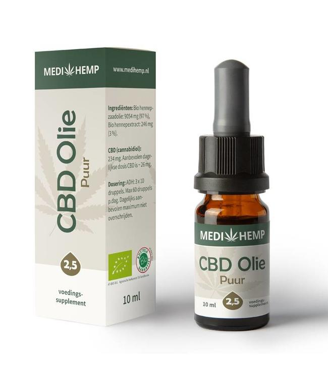Medihemp Medihemp CBD Oil Pure 2,5% 10ml