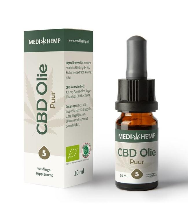 Medihemp Medihemp CBD Oil Pure 5% 10ml