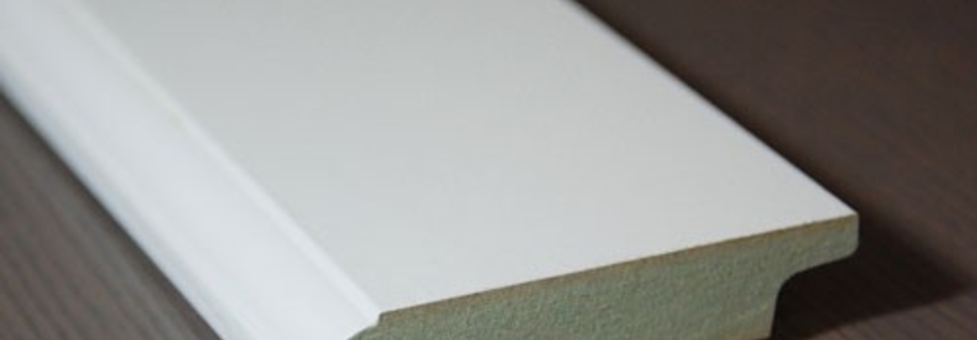 Stijlplint wit kraal 15x120