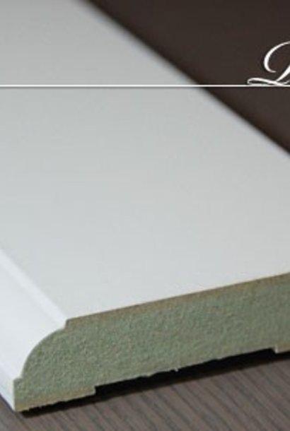 Stijlplint wit 120mm kraal