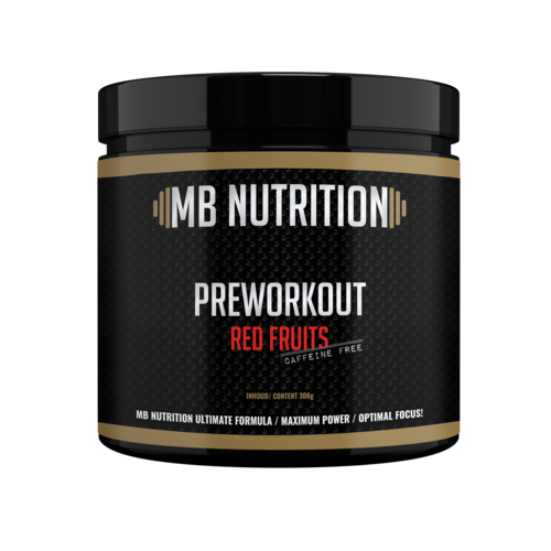 MB Nutrition Pre workout (300g) - Red Fruits - zonder cafeïne