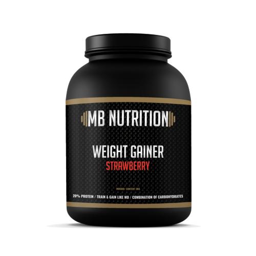 MB Nutrition Weight Gainer Aardbei (3 Kilo)