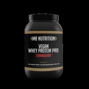 MB Nutrition Vegan protein shake (1kg) - Aardbei