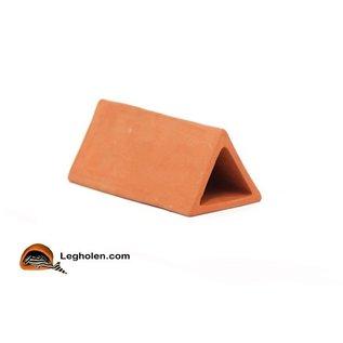 CeramicNature Leghol Large Modern Driehoek Rood