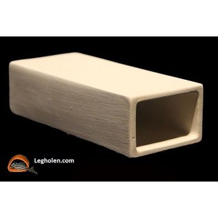 CeramicNature Leghol MediumLarge Rechthoek Wit