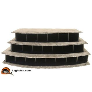 CeramicNature Slate stone triple flat round