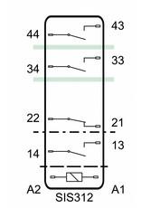 ELESTA relays SIS 4 Series - SIS 312