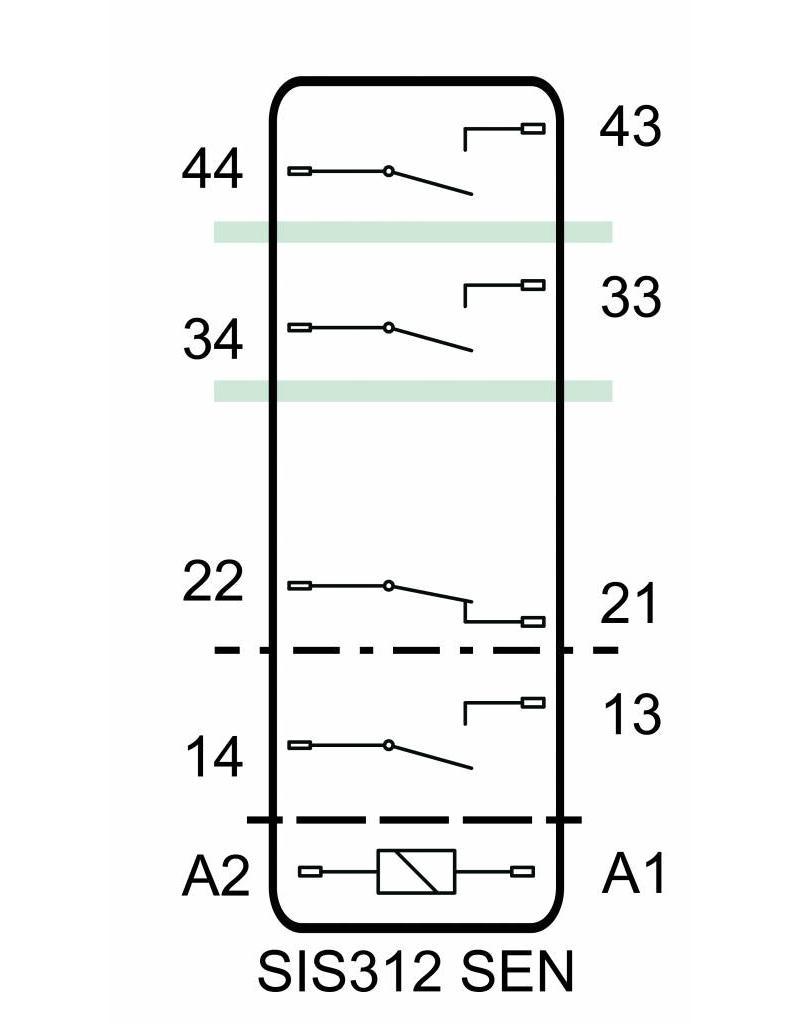ELESTA relays SIS 4 Series - SIS 312 SEN