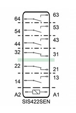 ELESTA relays SIS 6 Series - SIS 422 SEN