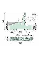 ELESTA relays DIN-Schienenfassung SRD-SGR2A KV2 PIK