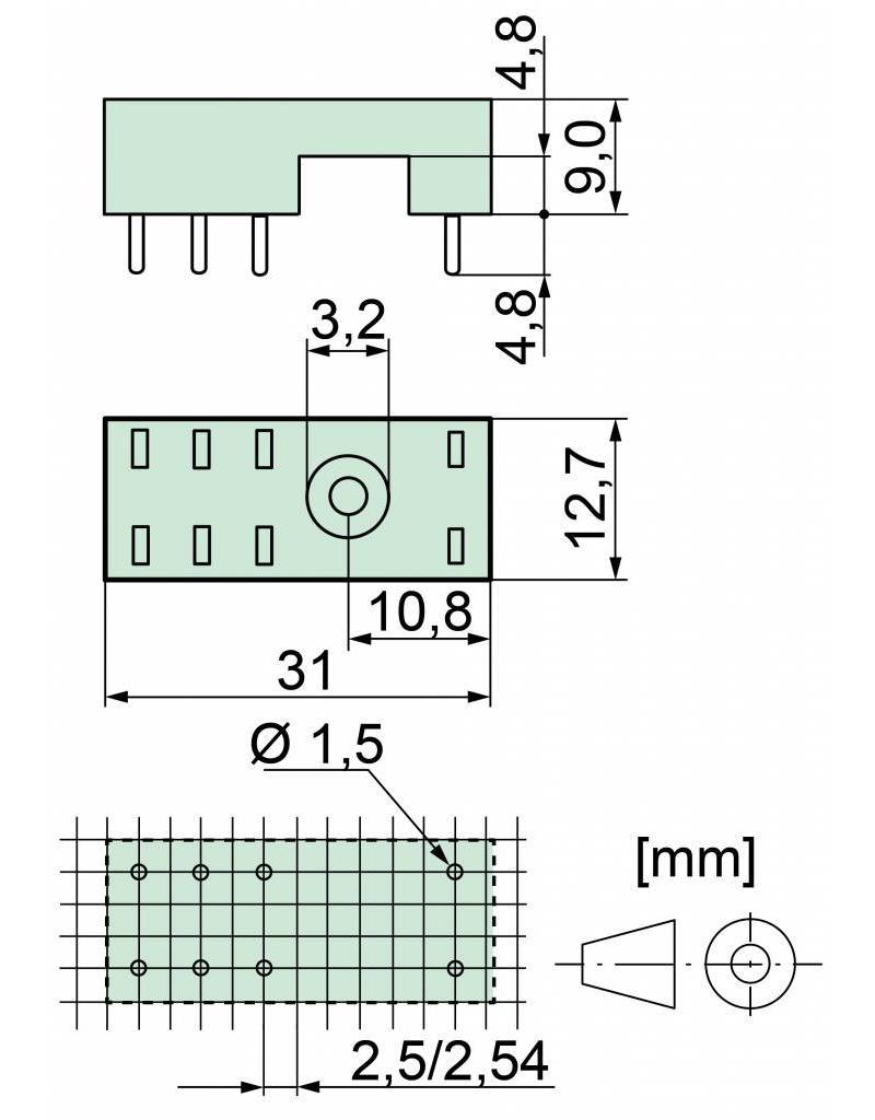 ELESTA relays PCB socket SRP-SGR2