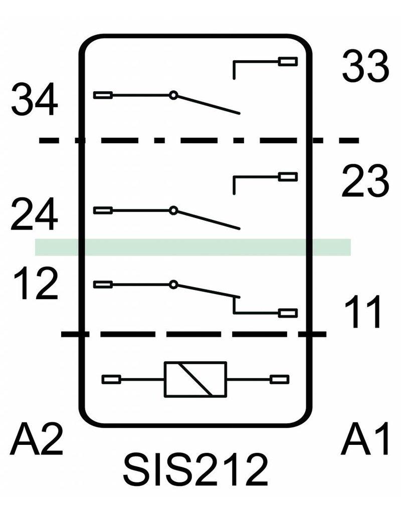 ELESTA relays SIS 3 Series - SIS 212 L38 with longer pins