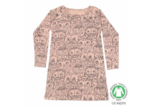 Soft Gallery Soft Gallery- owl -pyjama-dress-pink