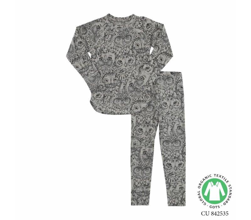 Soft Gallery- Uilen -Pyjama-grijs