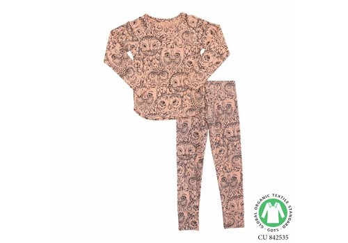 Soft Gallery Soft Gallery- Uilen -Pyjama- Roze