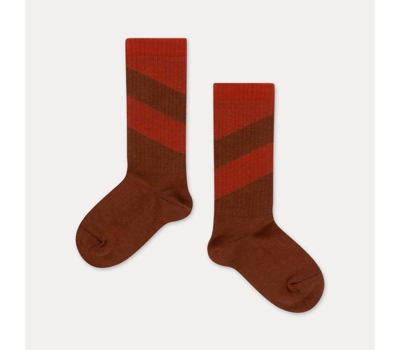 Repose AMS - socks warm pecan diagonal