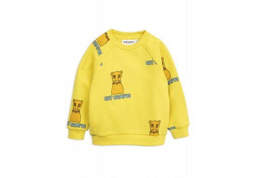 Mini Rodini Mini Rodini _ Cat Campus sweatshirt _Yellow