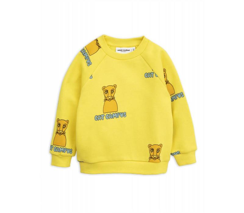 Mini Rodini _ Cat Campus sweatshirt _Yellow