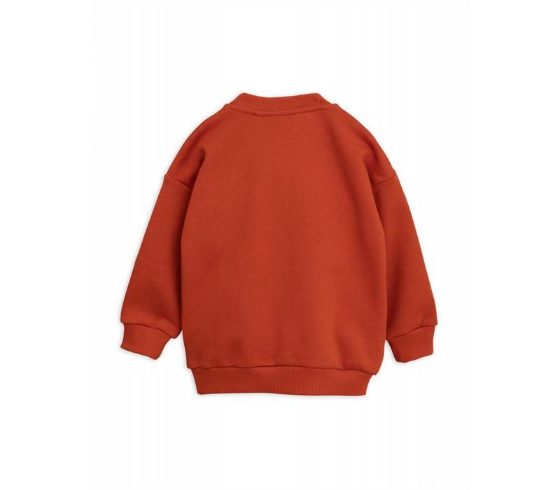 Mini Rodini Cat Patch sweatshirt red