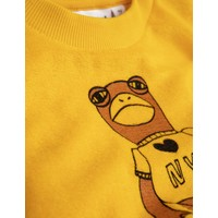 Mini Rodini Frog terry sweatshirt yellow