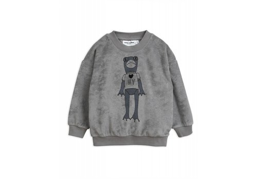 Mini Rodini Mini Rodini Frog terry Sweatshirt grey