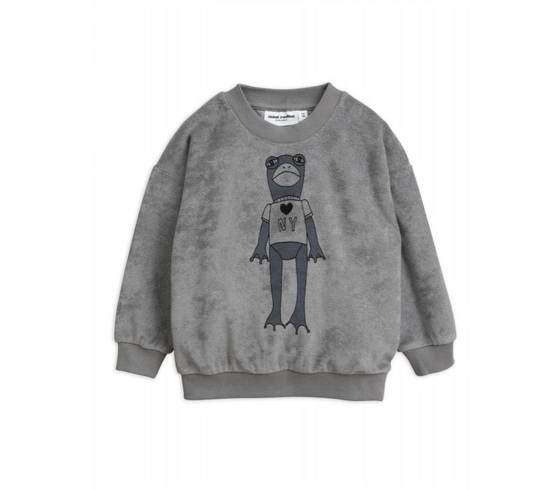 Mini Rodini Frog terry Sweatshirt grey