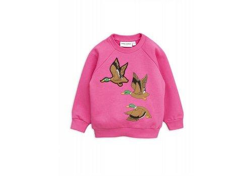 Mini Rodini Mini Rodini Duck sweatshirt cerise