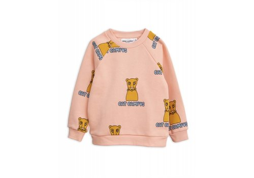 Mini Rodini Mini Rodini Cat Campus Sweatshirt Pink