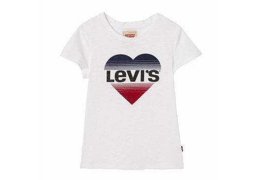 Levis Levis Logo hartje Wit M