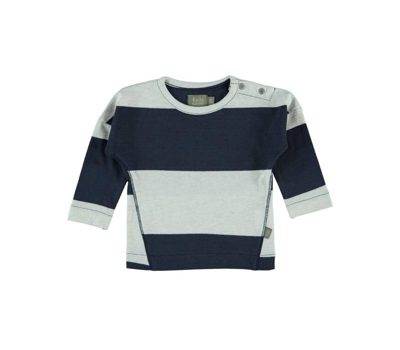 Kidscase Luke t-shirt offwhite / dark blue